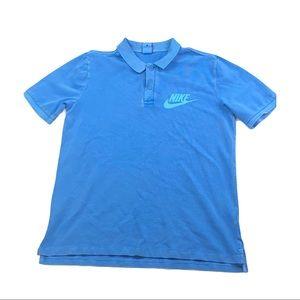 Vintage Nike Blue embroidered polo shirt